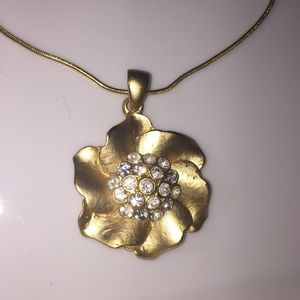 Fashion Jewelry Gold Tone Necklace
